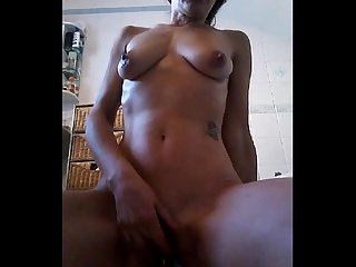 Beautiful Milf Amateur Tickling her Cunt and Squirting Hard