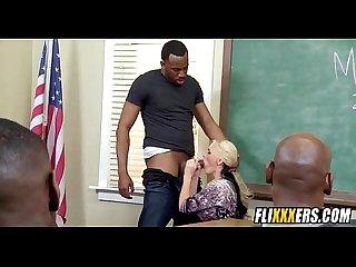 Blonde teacher gangbanged at school 2 1