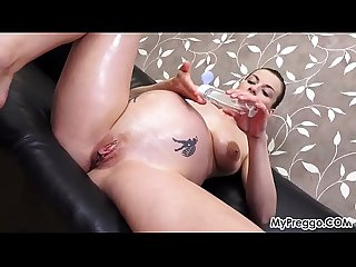 Victoria daniels oils up and plays with her pregnant pussy excl