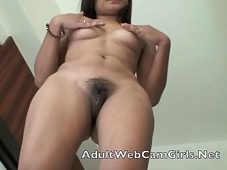 Asian Filipina webcam chat girl gets naked and shows her wet pussy