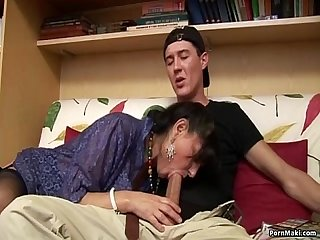 Granny loves huge cock