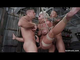 Huge tits MILF group sex bdsm