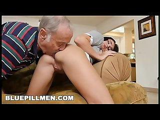 BLUE PILL MEN - Young And Precious Petite Teen Kharlie Stone Takes Old Dick