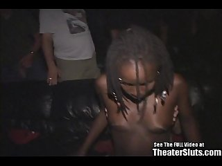 Eightteen year old ebony tasha taken to Xxx treater