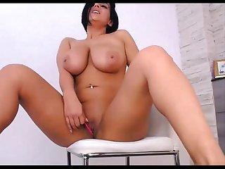 Nice moans of a big tits girl masturbation on sexowebcam online