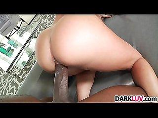 Big white booty jada stevens takes a bbc