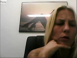 Girl in webcam