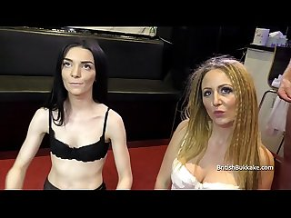 British bukkake cumslut duo