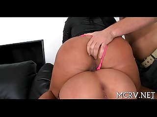 Filth makes playgirl jump on cock