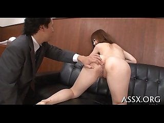 Uncouth oriental anal toying