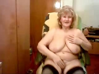 Hacked Web cam of my pervert old mum watch the bitch