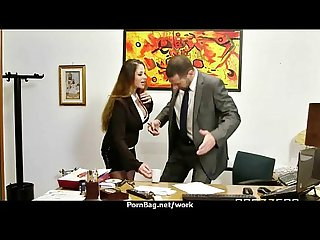 Submissive office busty assistant finally fucks her boss 13