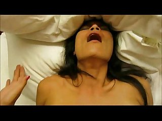 Asian brunette sex and facial