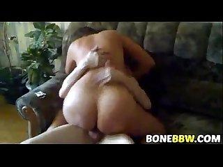 Sexy BBW howife rides cuckolds friend
