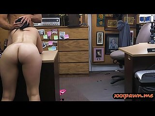 Cuban hottie gives head and gets fucked at The pawnshop
