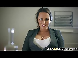 Brazzers big tits at work under the table deal scene starring mea melone and freddy flavas