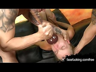 Erika devine is degraded and face fucked