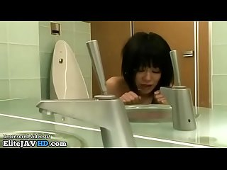 Japanese gf rough deepthroat in bathroom more at elitejavhd com