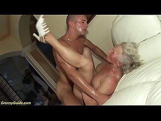 German granny in her first porn Video