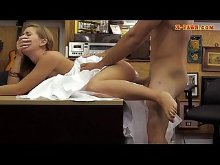 Slut pawns her wedding dress and banged