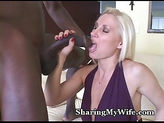 Busty Mommy Slurps Down Black Cum