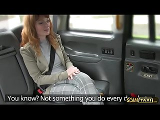 Cutie euro girl gets pussy blasted inside the taxi