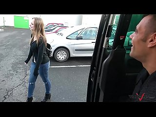 Takevan shy blonde sales woman love Wendy moon S tits come fuck to driving van