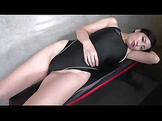 Maria Sano High-leg swimsuit black (part2)(2/2) legs-fetish image video no..