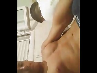 Spanish hung guy show his big hard meat in front of friends
