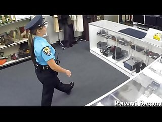 Police officer fucks at pawn shop