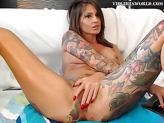 Tattoos and a dildo make the perfect combination vipgirlsworld period com