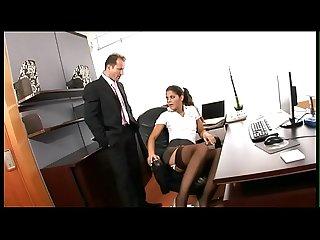 Sexy secretary has sex with her boss