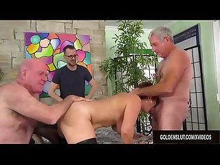 Mature Cumslut Scarlett O Ryan Has Her Holes Used by Five Horny Men