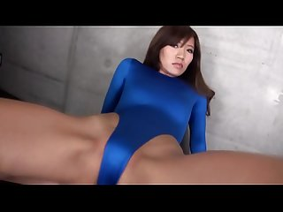 REIKA High-leg leotard blue legs-fetish image video no sound solo