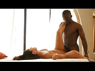 Ebony lovers caught in true hd passion