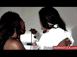 Hot pregnant babe eating out her horny lesbian doctor jasminfuck period com