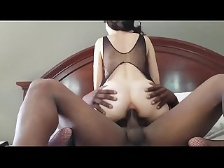 Hot Black Haired Sucks And Fucks A Huge BBC
