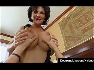 Mature milf deauxma has big squirting orgasm with boy toy