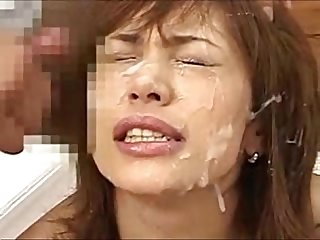 Asian Amateur Slut Gets Ger Face Filled with Cum