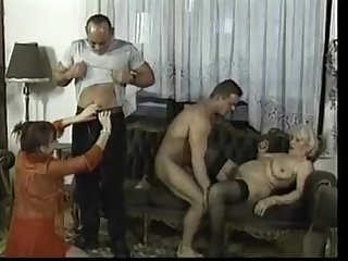Older women in crazy fucking orgy low