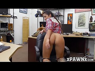 Young latina Lexie Banderas slobbers big cock before anal