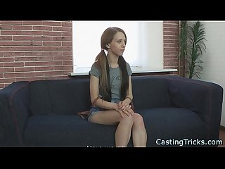 Fake casting with petite innocent teen