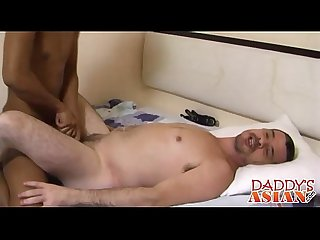 Daddy getting a whole lot of minutes of pure erotic massage