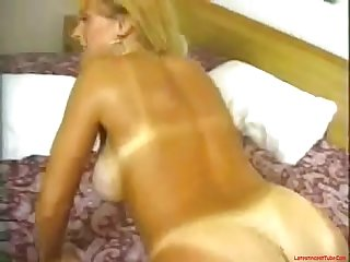 Real hot mom with tan lines fucks sucks and 69s with sons friend