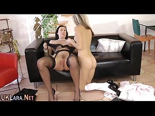 Mature lesbo gets tongued