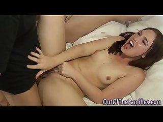 Teen whore shares cock