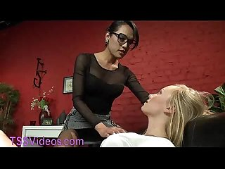 Tranny doc fucks her patient in bondage