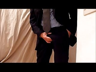 Wanking cum after working in suit tie traje corbata pa chubmilkybanana