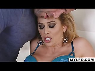 Watch Cherie as her stepson pounded her dripping pussy in many ways