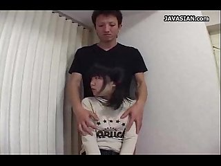 Asian teen getting an awesome handjob